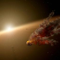 Mají vsoustavě KIC 8462852 hejno divokých komet? Kredit: JPL-Caltech / NASA.