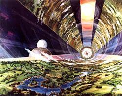 Takto by mohla vypadat mezihvězdná loď Rama z románu A. Clárka (zdroj Rick Guidice NASA)