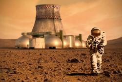 Umělěcká představa teraformování Marsu