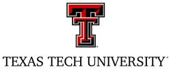 Logo Texas Tech University.