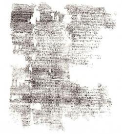 "P 4 alias ""Papyrus Merellus"". Fragment s opisem Evangelia podle Lukáše z 2. století. Kredit: Leszek Jańczuk, Wikimedia Commons."