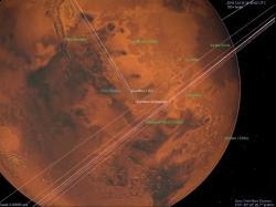 Přílet TGO a EDM pohledem z Mars Express. Zdroj: spaceflight101.com