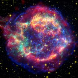 Supernovy je lépe pozorovat zdálky. Kredit: NASA/JPL-Caltech/STScI/CXC/SAO.