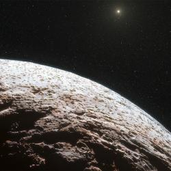 Jaký je svět retrográdních transneptunických planetek? Kredit: ESO / L. Calçada / Nick Risinger.