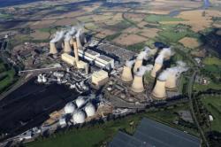 Uhelná elektrárna Drax byla předělána na spalování pelet (zdroj Drax).