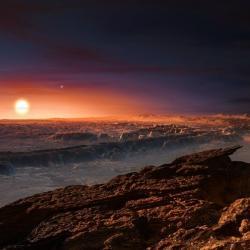 Jaký je asi svět Proximy b? Kredit: ESO / M. Kornmesser.