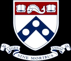 Logo University of Pennsylvania  (zkráceně Penn,nebo takéUpenn) je soukromáa jedna z nejprestižnějších univerzit v USA. Hlavní sídlo má ve Philadelphii.