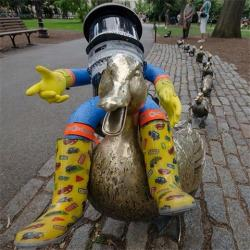 Hitchbot v Bostonu (Kredit: @hitchbot)