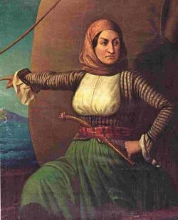 Bubulína na obrazu z 19. století. National Museum of History, Athens. Kredit: Sreejithk2000, Wikimedia Commons.