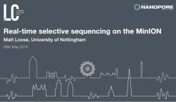 Matt Loose / Real-Time Selective Sequencing on the MinION