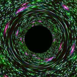 Jsou virtuální černé díry jako ty reálné? Kredit: NASA, ESA, and D. Coe, J. Anderson, and R. van der Marel (STScI).
