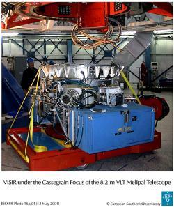 Zařízení VISIR soustavy teleskopů VLT. Kredit: ESO.