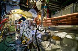 Vnitřnosti experimentu AWAKE. Kredit: Maximilien Brice/Julien Ordan/CERN.