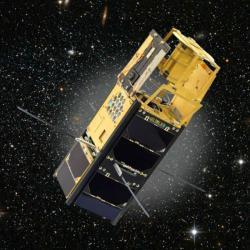 VZLUSat-1 ve vesmíru. Kredit: VZLU.