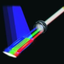 Jak funguje bílý laser. Kredit: Arizona State University.