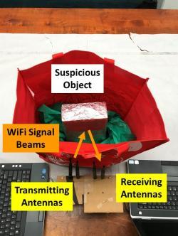 Zárodek detekční WiFi sítě. Kredit: Data Analysis and Information Security (DAISY) Lab led by Professor Yingying Chen.