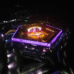 Olympijský stadion vPchjongčchangu. Kredit: Pyeongchang Olympic Committee (POCOG).