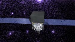 Vesmírný gama teleskop Fermi. Kredit: NASA.