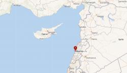 Místo exploze vbejrútském přístavu. Kredit: Wikipedia.