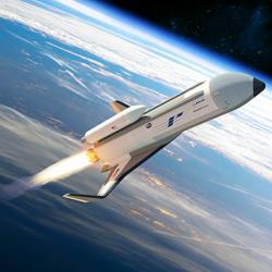 Kosmolet XS-1 na kraji vesmíru. Kredit: Boeing.