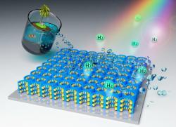 Nanomateriál pro produkci vodíku zmořské vody. Kredit: University of Central Florida.