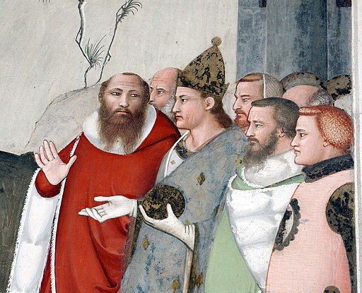 Svatý Silvestr. Bardi di Vernio Chapel, 14. století. Kredit: Maso di Banco via Sailko, Wikimedia Commons.