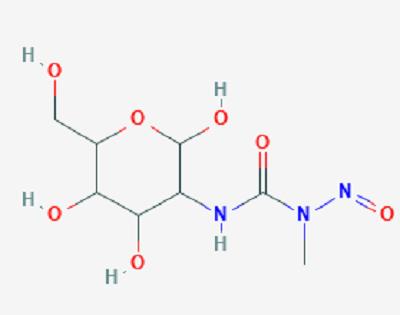 Streptozotocin (C8H15N3O7 ,  2-Deoxy-2-(3-methyl-3-nitrosoureido)-D-glucopyranose).