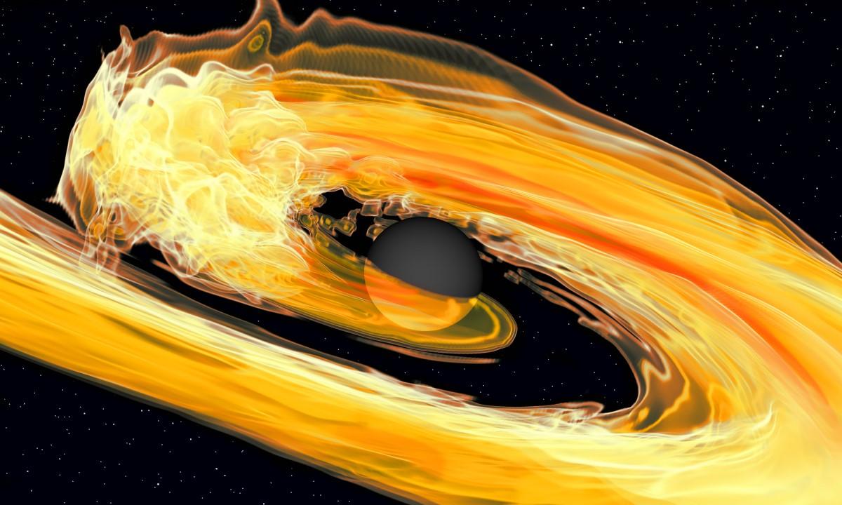 Sežrání neutronové hvězdy. Kredit: NSHB.