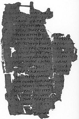 Řecký překlad knihy Exodus, fragment opisu z 3. nebo 4. století n. l. Papyrus Oxyrhynchus 1075. Kredit: British Library, Wikimedia Commons.