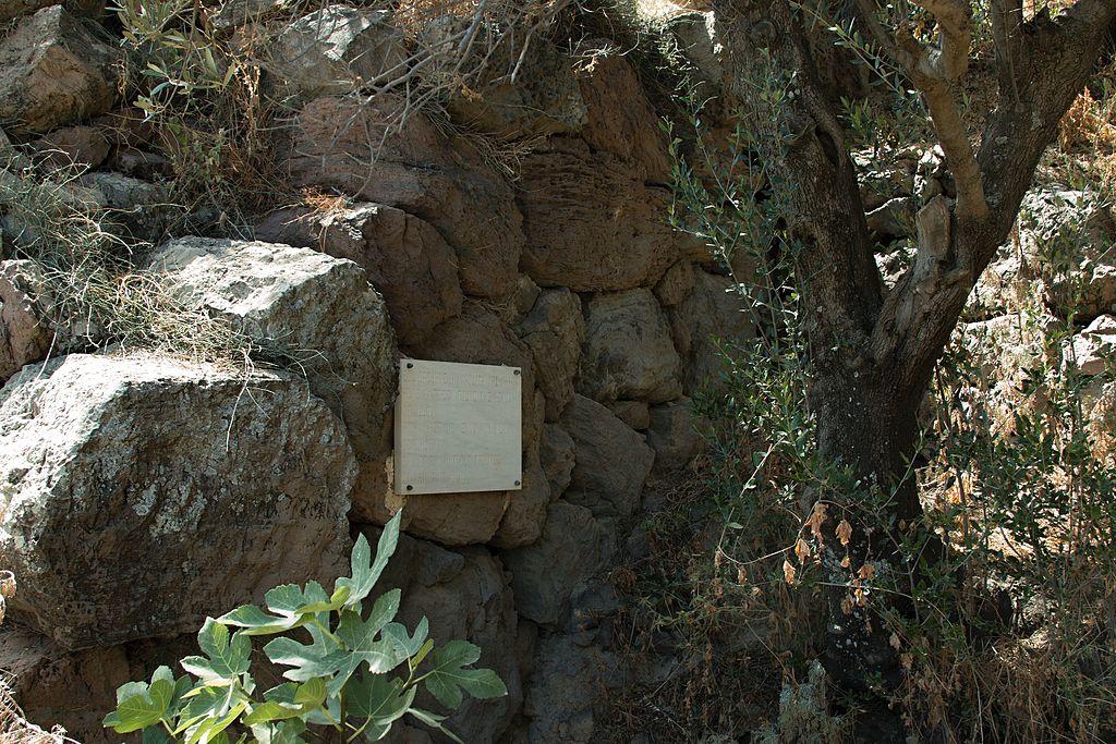 Místo nálezu mezi Trypiti a Tramythia. Kredit: Wikimedia Commons.