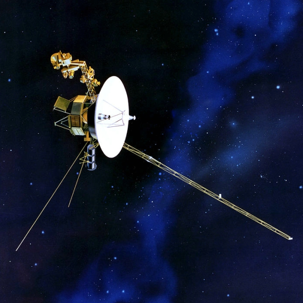 Znašich sond je zatím nejrychlejší Voyager 1. Kredit: NASA/JPL.