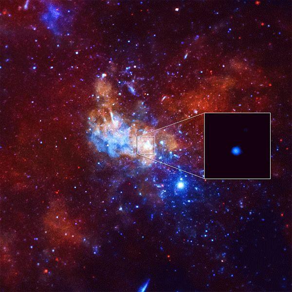 Rentgenové mrknutí naší supermasivní černé díry. Kredit: NASA/CXC/Stanford/I. Zhuravleva et al.