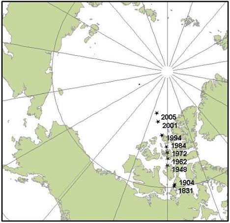 severní pól cestuje