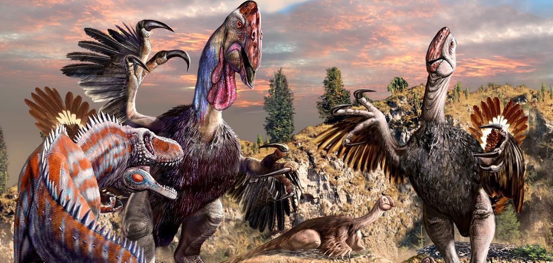 Dinosauři jako zlá drůbež. Kredit: Luis V. Rey.