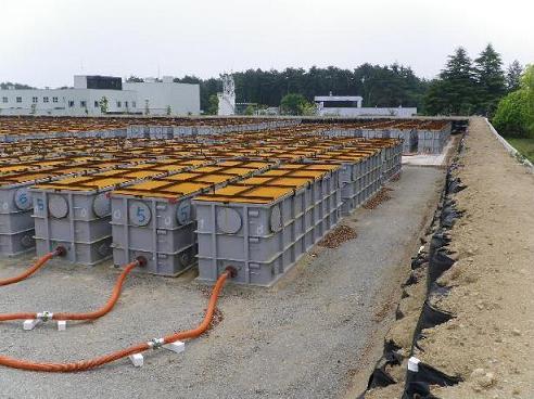 Jedna z částí zařízení pro dekontaminaci vody. (zdroj TEPCO)